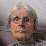 Portrait of an old woman Stock Photography