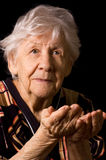 Portrait of the old woman a black Stock Photo