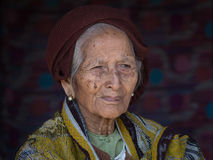 Portrait old woman. Inle lake, Myanmar Royalty Free Stock Photography