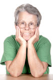 Portrait of the old woman isolated Royalty Free Stock Photo