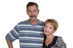 Portrait of old woman and man Royalty Free Stock Photo