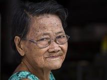 Portrait old woman in market, Koh Phangan. Thailand