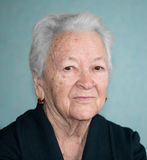 Portrait of old woman Royalty Free Stock Photo