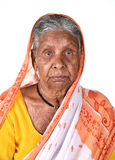 Portrait of an old woman, Senior Indian woman Stock Images
