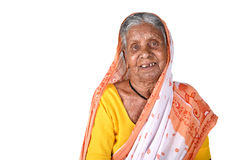 Portrait of an old woman, Senior Indian woman Royalty Free Stock Photography