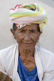 Portrait old woman to Bali island, Indonesia Royalty Free Stock Images