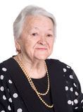 Portrait of old woman Stock Photo