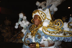 Portrait of older female carnival reveler Royalty Free Stock Photography