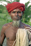Portrait of older fisherman, Bangladesh Royalty Free Stock Photography