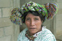 Portrait older Ixil Guatemalan Indian Woman Royalty Free Stock Photography