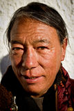 Portrait of an older man from Tibet Royalty Free Stock Photos