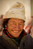 Portrait of an older man from Tibet smiling Royalty Free Stock Image