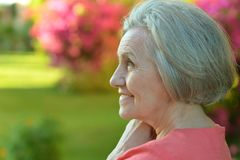 Portrait of an older woman Royalty Free Stock Images