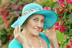 Portrait of an older woman Royalty Free Stock Photo