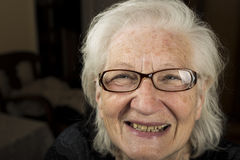 Portrait of an older woman with glasses Stock Photo