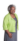 Portrait of an older woman with grey hair Royalty Free Stock Photography