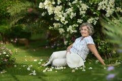 Portrait of an older woman Stock Photos
