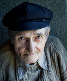 Portrait of one friendly old senior man Royalty Free Stock Images