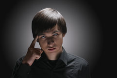 Portrait of one handsome young man Stock Images