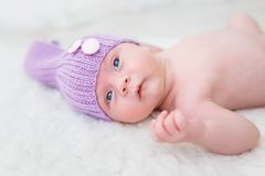 Portrait of an one month boy Royalty Free Stock Photo
