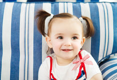 Portrait of the one year old baby indoor Royalty Free Stock Photo