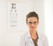 Portrait of ophthalmologist doctor woman Stock Photo
