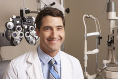 Portrait Of Optician In Surgery Stock Photo