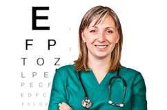 Portrait of optometrist stock photography