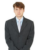 Portrait of ordinary young man on white background Stock Photography