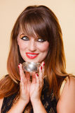 Portrait orient girl with makeup and armlet Royalty Free Stock Photos