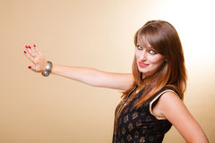 Portrait orient girl with makeup and armlet Royalty Free Stock Images