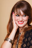 Portrait orient girl with makeup Royalty Free Stock Photos