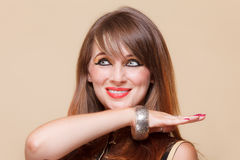 Portrait orient girl with makeup Royalty Free Stock Image