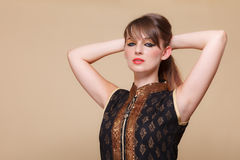 Portrait orient girl with makeup Royalty Free Stock Images