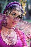 Portrait of oriental dancer Royalty Free Stock Photos