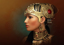 Portrait of an Oriental Princess, 3d CG Royalty Free Stock Images