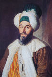 Portrait of Ottoman official - painting created in 1742 Stock Photos