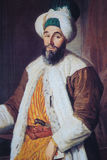 Portrait of Ottoman official - painting created in 1742 Royalty Free Stock Photos