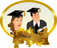 Portrait of our Graduates.. Royalty Free Stock Image