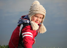 Portrait in outdoor with little boy royalty free stock images