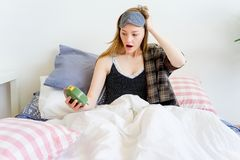 Girl is overslept Royalty Free Stock Images