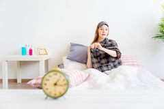 Girl is overslept Stock Image