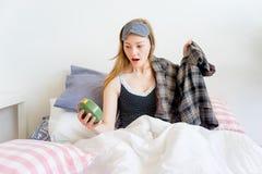 Girl is overslept Royalty Free Stock Image