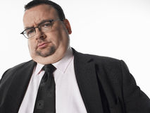 Portrait Of Overweight Businessman Royalty Free Stock Photos