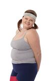 Portrait of overweight happy woman Stock Photography