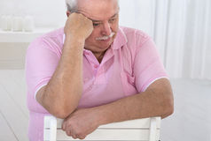 Portrait of an overweight senior man Stock Photo