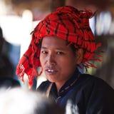 Portrait of Pa-O tribe woman, Myanmar Royalty Free Stock Image