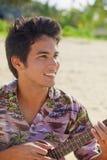 Portrait of a pacific island man Stock Photos