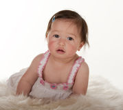 Portrait of Pacific Islander baby girl Stock Photo