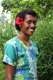 Portrait pacific islander girl. With a sincere smile stock image